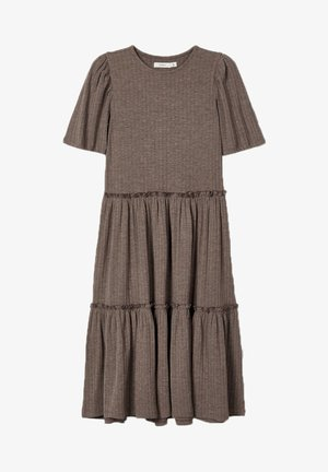 Day dress - deep taupe