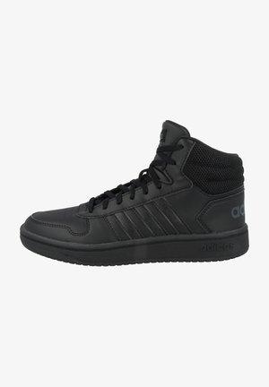 HOOPS MID - Basketball shoes - core black-core black-grey six