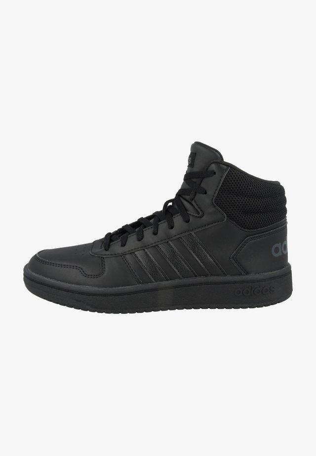HOOPS MID - Chaussures de basket - core black-core black-grey six
