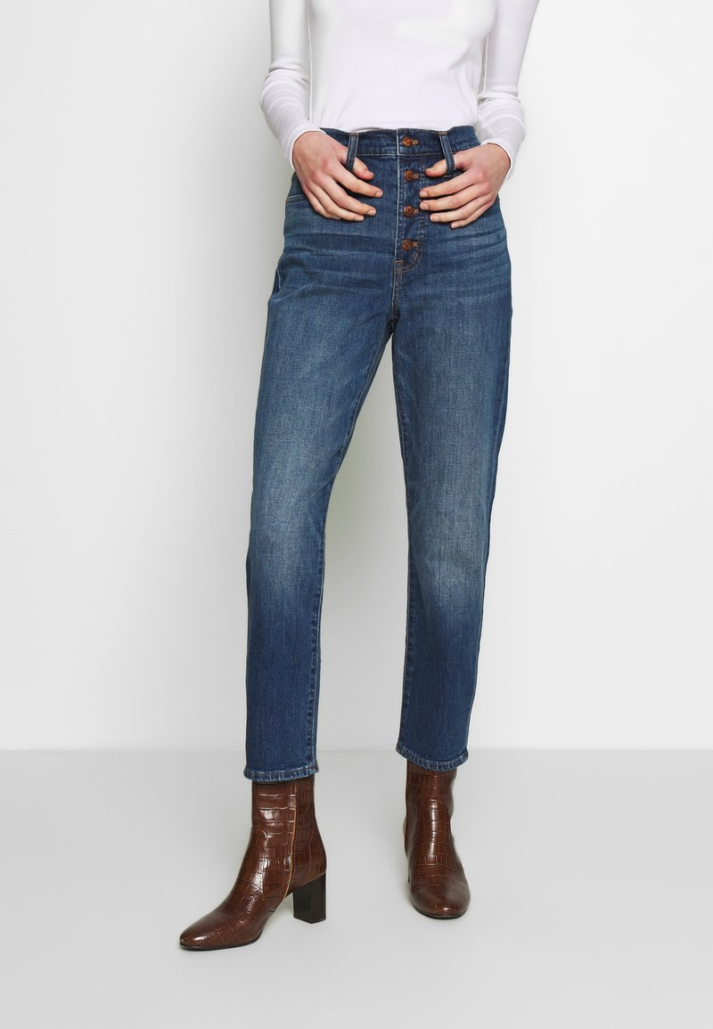 Madewell - PERFECT VINTAGE BUTTON FRONT - Straight leg jeans - barnsdale wash