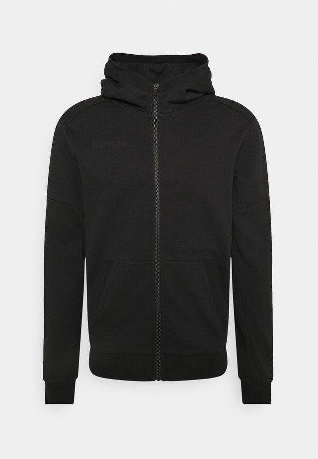 STATUS HOOD JACKET - Mikina na zip - black