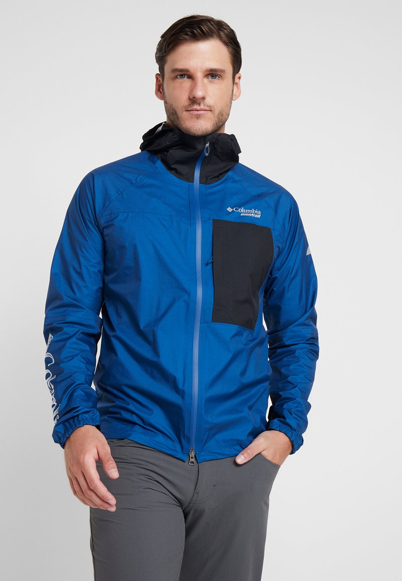 Columbia - ROGUE RUNNER WIND JACKET - Hardshelljacke - marine blue/black