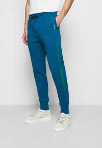 Paul Smith - GENTS PRINTED SIDE STRIPE JOGGER - Tracksuit bottoms - green - 0