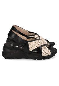 Hispanitas - Sandalen met sleehak - black - 3