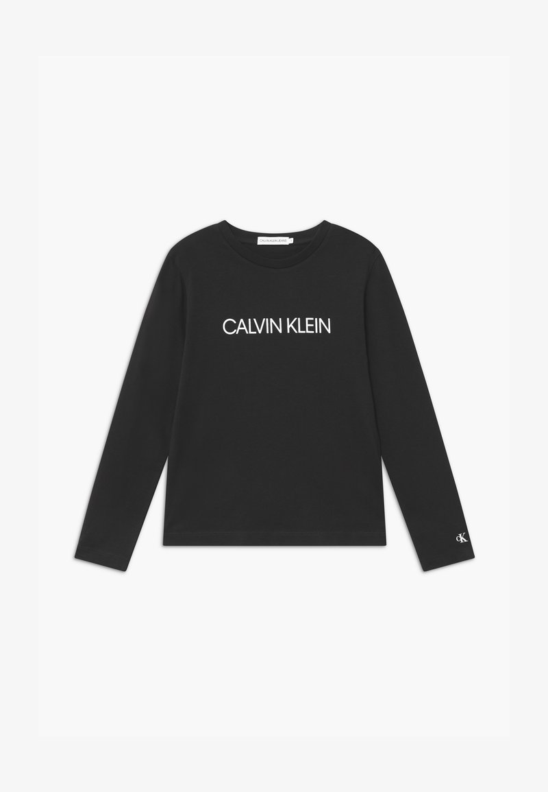 Calvin Klein Jeans - INSTITUTIONAL  - Long sleeved top - black