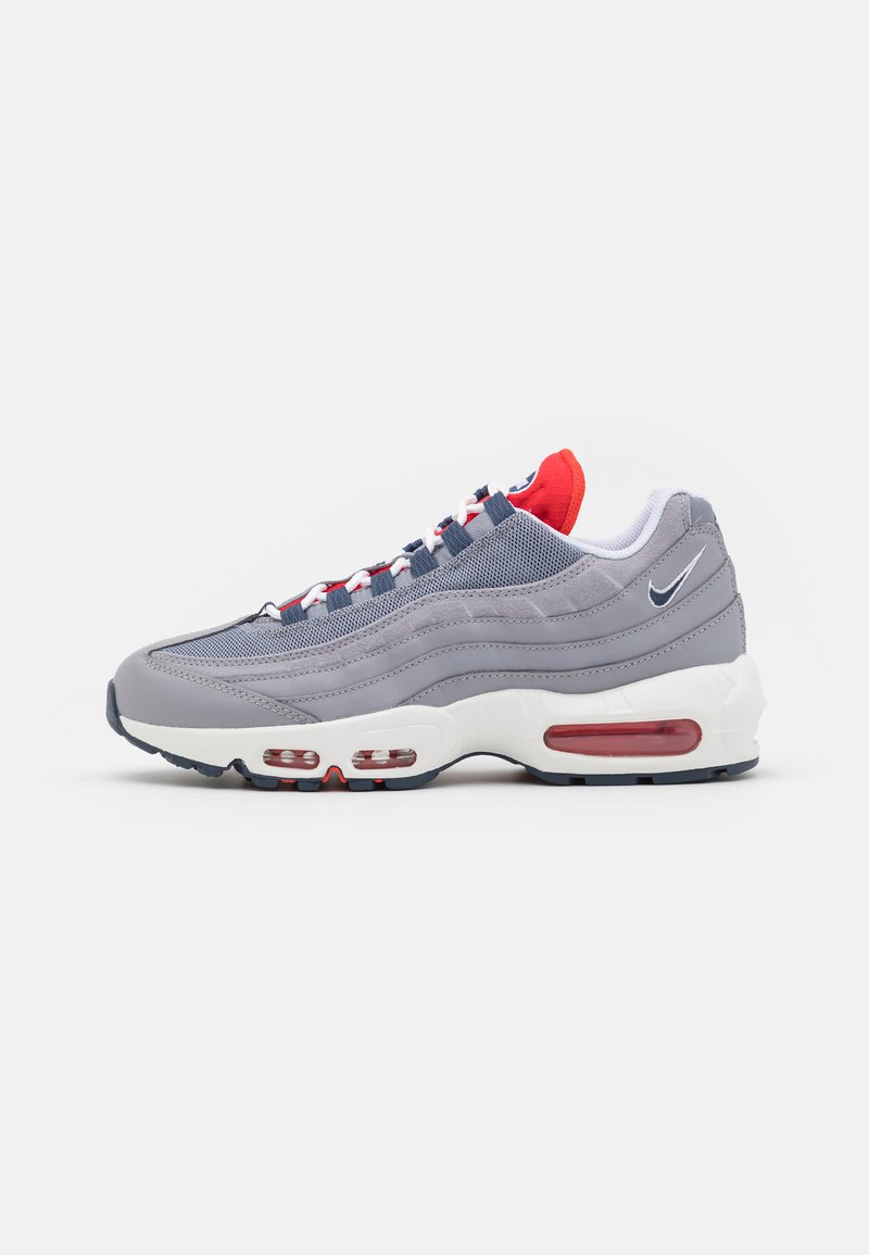 Nike Sportswear - AIR MAX 95 - Sneakersy niskie - cement grey/thunder blue/chile red/summit white/white