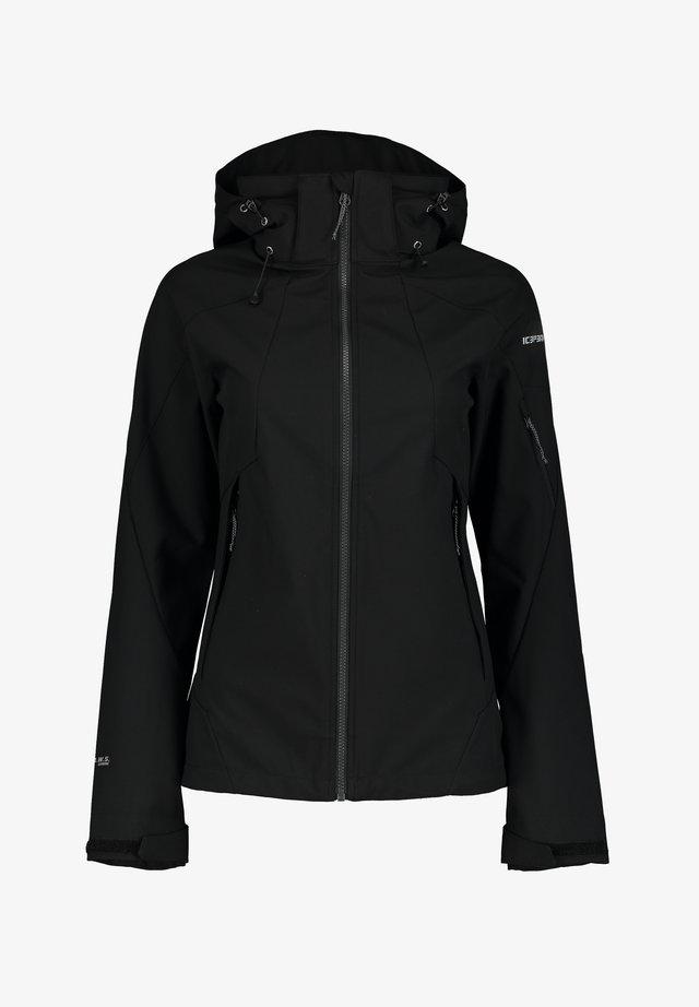 BARABOO - Soft shell jacket - schwarz