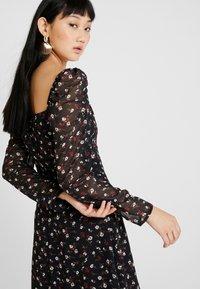 Missguided - FLORAL SQUARE NECK MINI DRESS - Cocktail dress / Party dress - black - 3