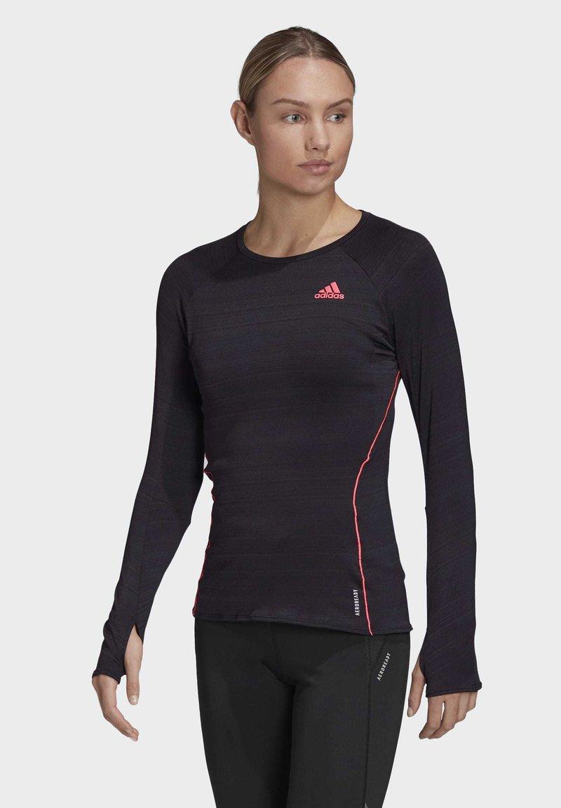 adidas Performance - RUNNER LONG-SLEEVE TOP - Long sleeved top - black