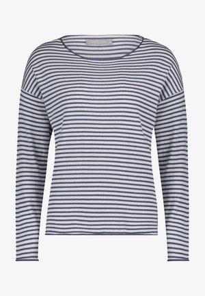 Pullover - weiß/blau
