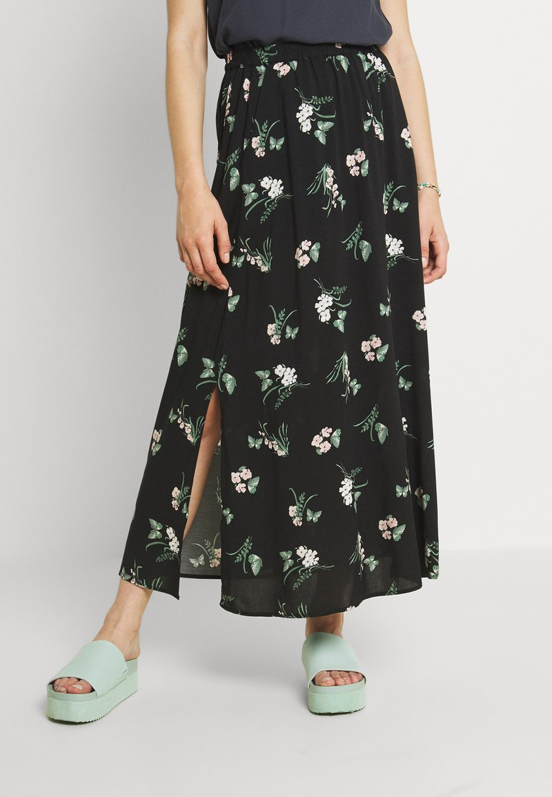 Vero Moda - VMSIMPLY EASY SKIRT - Maxi skirt - black