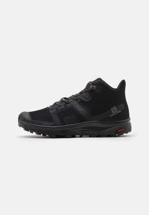 OUTLINE PRISM MID GTX  - Hiking shoes - black/quiet shade/quarry