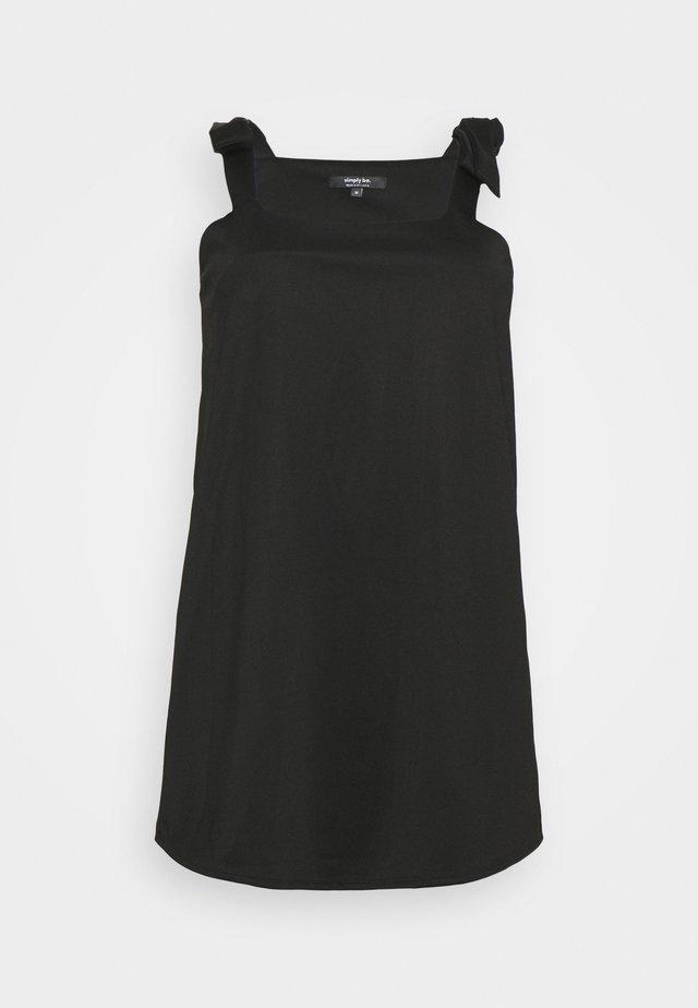 PONTI PINAFORE DRESS - Vestito di maglina - black