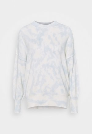 WASH OVERSIZED CREW - Jumper - illusion blue dye effect