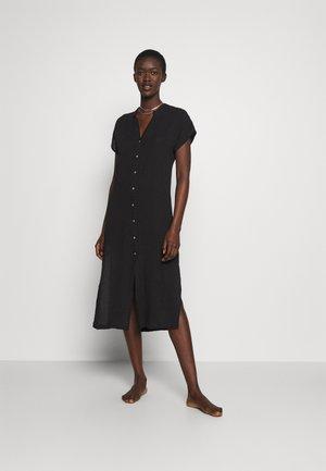 THRIFT SHOP DOUBLE CLOTH COVERUP - Beach accessory - black
