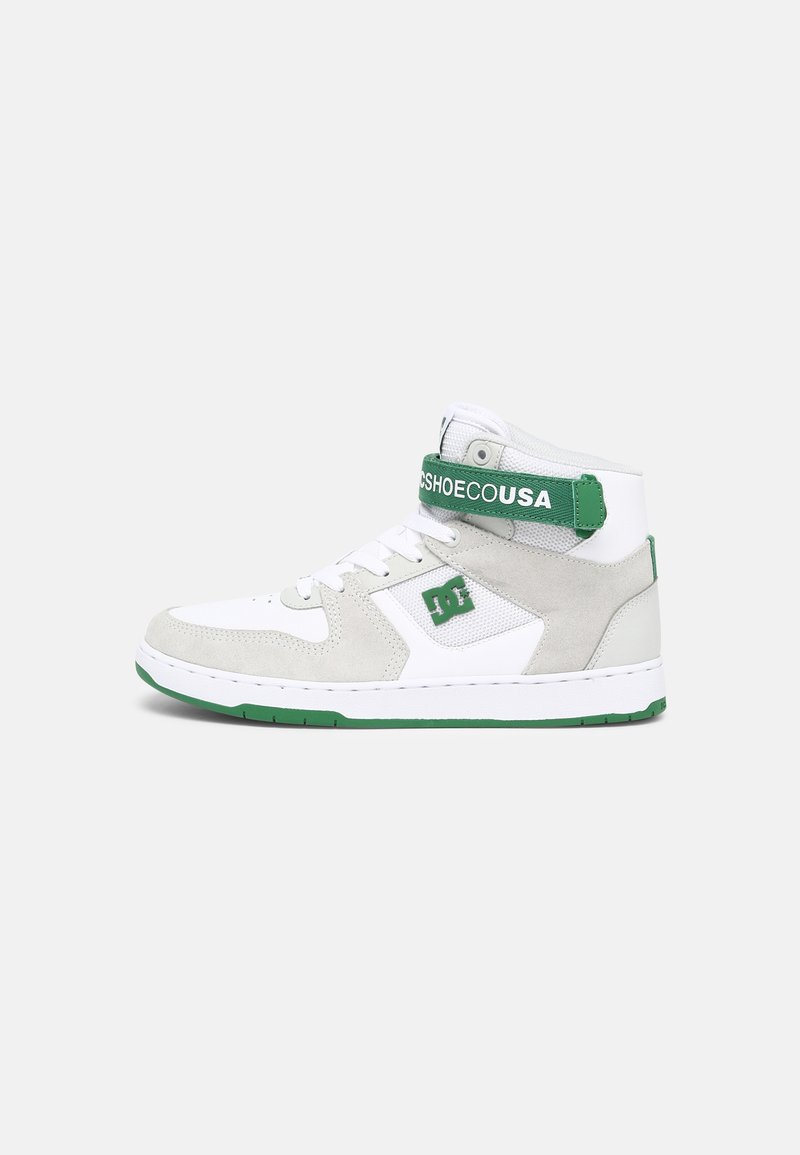 DC Shoes - PENSFORD - High-top trainers - white/grey/green