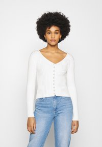 NA-KD - DETAILED CARDIGAN - Cardigan - off white - 0