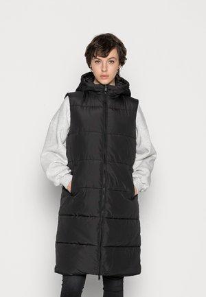 PCBEE NEWLONG PUFFER VEST - Waistcoat - black