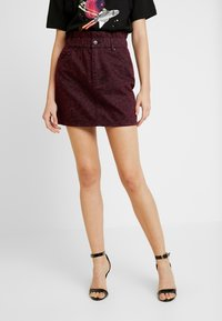ZIGGY Denim - CINCH IT SKIRT - Denim skirt - wine - 0