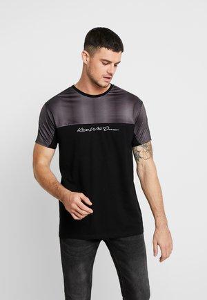 WAKER - Print T-shirt - black