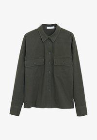Mango - BROKEN - Button-down blouse - khaki - 3