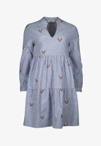 Zwillingsherz - MARIA - Day dress - blau/weiß - 0