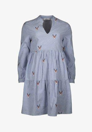 MARIA - Day dress - blau/weiß