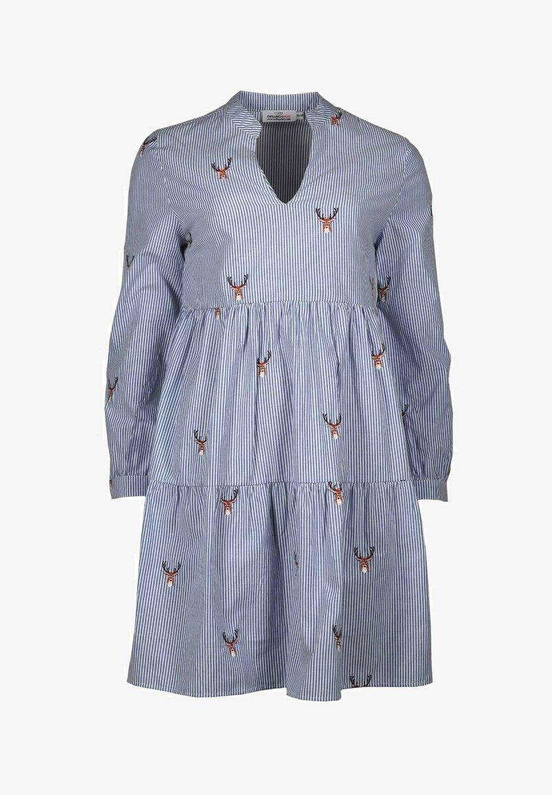 Zwillingsherz - MARIA - Day dress - blau/weiß