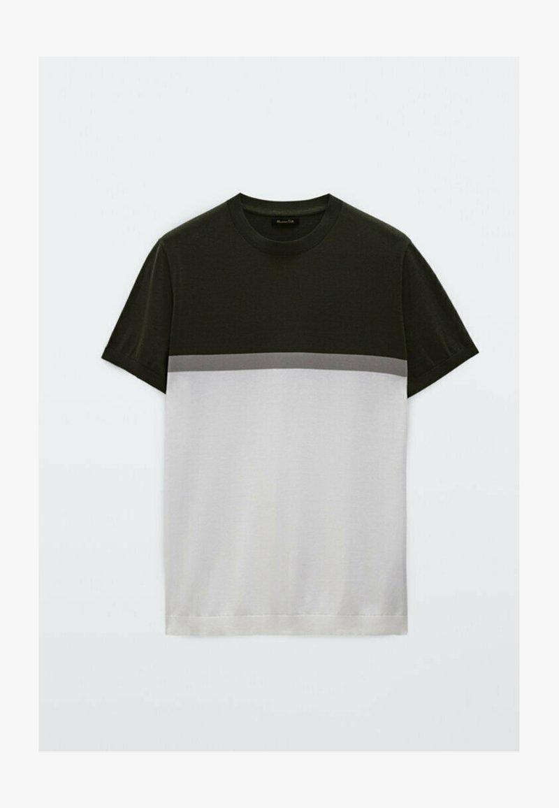Massimo Dutti - Print T-shirt - evergreen