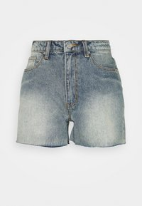 Missguided Tall - RIOT RAW HIGHWAISTED MOM  - Shorts di jeans - blue - 0