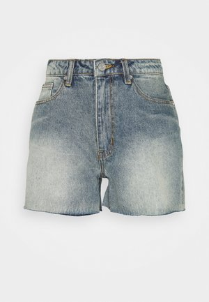 RIOT RAW HIGHWAISTED MOM  - Jeansshorts - blue