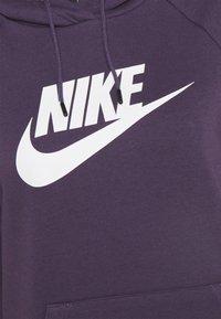 Nike Sportswear - HOODIE - Hoodie - dark raisin/white - 2