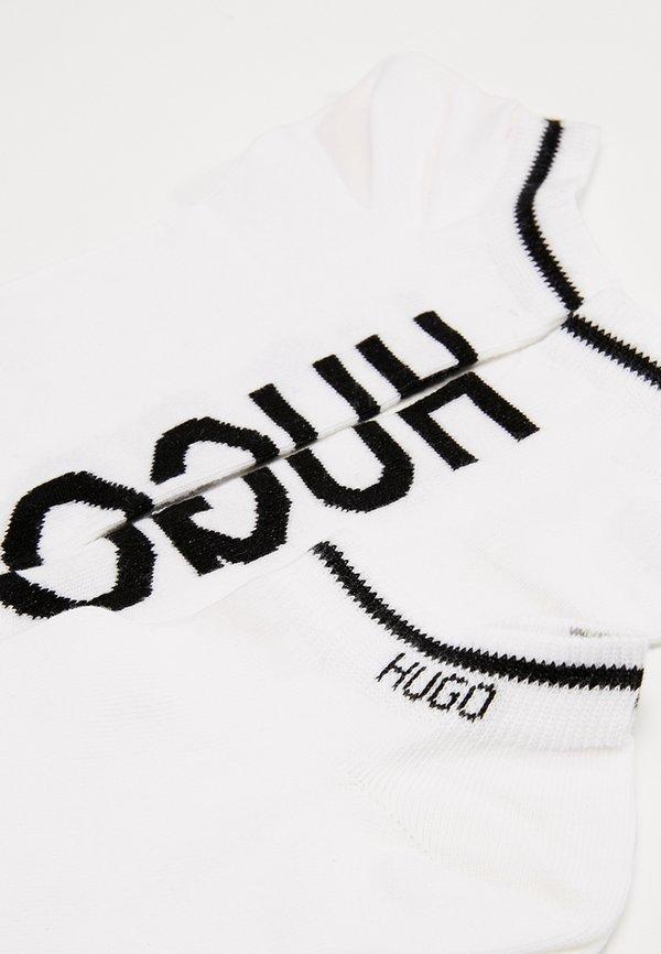 HUGO LOGO 2 PACK - Skarpety - white/biały Odzież Męska PTRQ