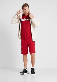 adidas Performance - LIN TEE - Print T-shirt - red - 1