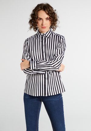 Button-down blouse - schwarz/weiß