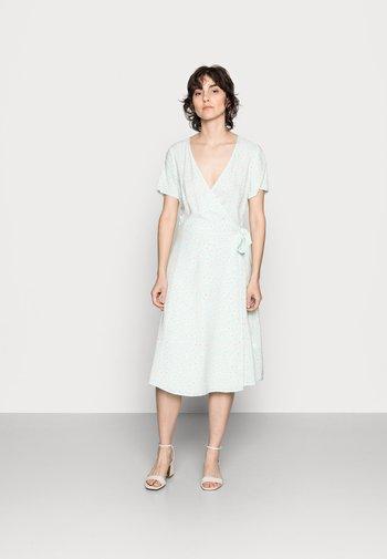 WRAP DRESS - Day dress - mint, white