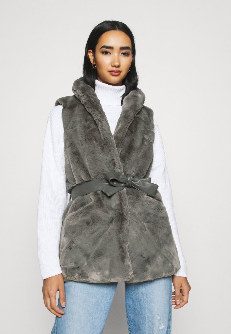 ONLY - ONLOLLIE WAISTCOAT - Waistcoat - charcoal gray