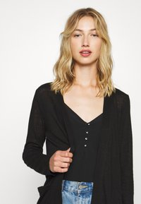 Pieces - PCMISSY MIDI CARDIGAN - Cardigan - black - 3