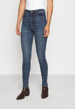 NMAGNES SKINNY SLIT - Skinny džíny - medium blue denim