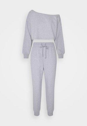 OFF SHOULDER JOGGER SET PETITE - Sweater - grey marl