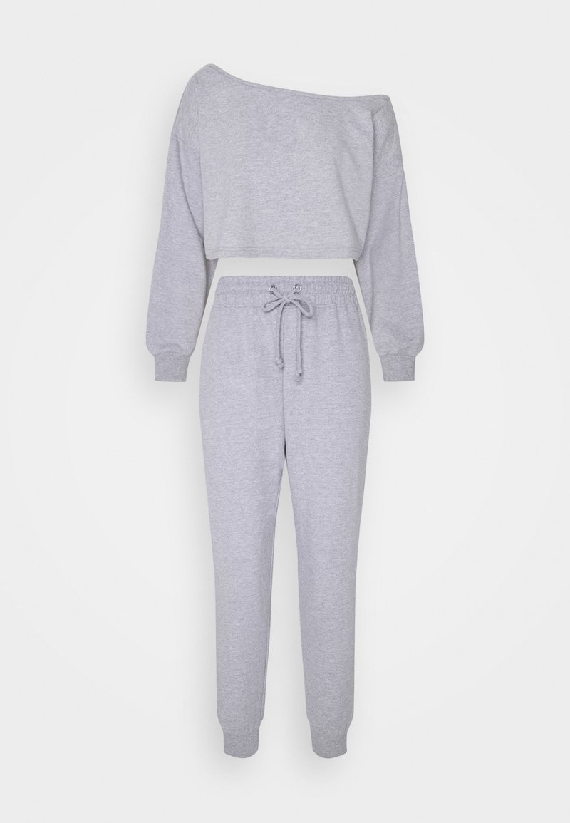 Missguided Petite - OFF SHOULDER JOGGER SET PETITE - Sweatshirt - grey marl