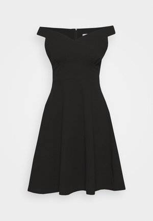 BARDOT MIDI DRESS - Robe en jersey - black