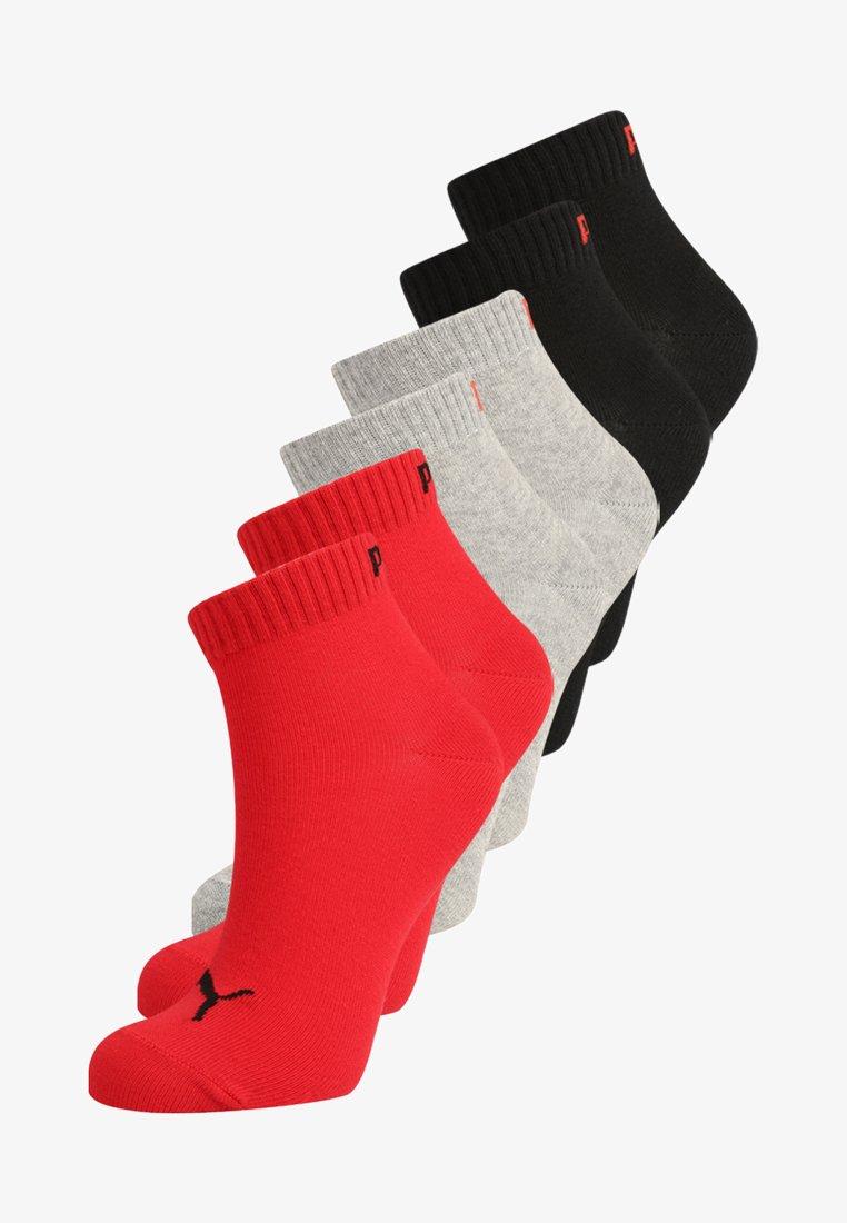 Puma - QUARTER 6 PACK - Sports socks - black/red