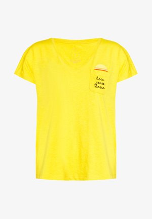 Camiseta estampada - deep golden yellow