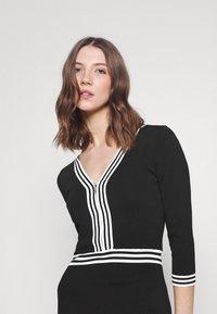 Morgan - Shift dress - noir/off white - 3