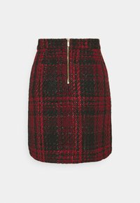 Wallis - TEXTURED SKIRT - Miniskjørt - red - 1
