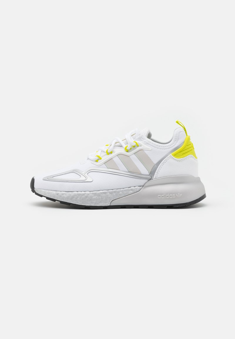 adidas Originals - ZX 2K BOOST UNISEX - Trainers - footwear white/grey one/acid yellow