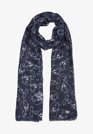 Scarf - dark blue placed print