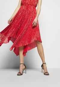 MICHAEL Michael Kors - PLEATD HALTR - Cocktail dress / Party dress - crimson - 4
