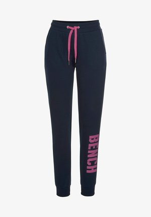 Tracksuit bottoms - navy pink